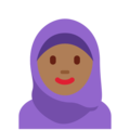 Person With Headscarf: Medium-Dark Skin Tone on Twitter Twemoji 2.3