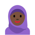 Person With Headscarf: Dark Skin Tone on Twitter Twemoji 2.3