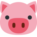 Pig Face on Twitter Twemoji 2.3