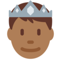 Prince: Medium-Dark Skin Tone on Twitter Twemoji 2.3