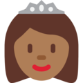 Princess: Medium-Dark Skin Tone on Twitter Twemoji 2.3