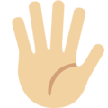 Raised Hand With Fingers Splayed: Medium-Light Skin Tone on Twitter Twemoji 2.3