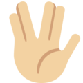 Vulcan Salute: Medium-Light Skin Tone on Twitter Twemoji 2.3