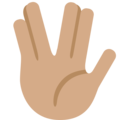Vulcan Salute: Medium Skin Tone on Twitter Twemoji 2.3