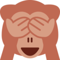 See-No-Evil Monkey on Twitter Twemoji 2.3