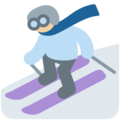 Skier, Type-3 on Twitter Twemoji 2.3