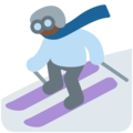 Skier, Type-6 on Twitter Twemoji 2.3