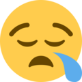 Sleepy Face on Twitter Twemoji 2.3