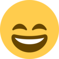 Smiling Face With Open Mouth & Smiling Eyes on Twitter Twemoji 2.3