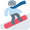Snowboarder: Light Skin Tone on Twitter Twemoji 2.3