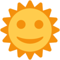 Sun With Face on Twitter Twemoji 2.3
