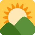 Sunrise Over Mountains on Twitter Twemoji 2.3