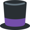 Top Hat on Twitter Twemoji 2.3