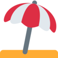 Umbrella on Ground on Twitter Twemoji 2.3