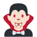 Vampire: Light Skin Tone on Twitter Twemoji 2.3