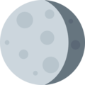 Waning Gibbous Moon on Twitter Twemoji 2.3