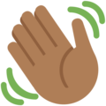 Waving Hand: Medium-Dark Skin Tone on Twitter Twemoji 2.3