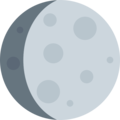 Waxing Gibbous Moon on Twitter Twemoji 2.3