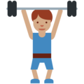 Person Lifting Weights: Medium Skin Tone on Twitter Twemoji 2.3
