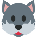 Wolf Face on Twitter Twemoji 2.3