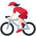 Woman Biking: Light Skin Tone on Twitter Twemoji 2.3