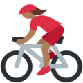 Woman Biking: Medium-Dark Skin Tone on Twitter Twemoji 2.3