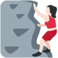 Woman Climbing: Light Skin Tone on Twitter Twemoji 2.3