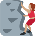 Woman Climbing: Medium Skin Tone on Twitter Twemoji 2.3