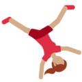 Woman Cartwheeling: Medium Skin Tone on Twitter Twemoji 2.3