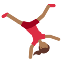 Woman Cartwheeling: Medium-Dark Skin Tone on Twitter Twemoji 2.3