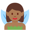 Woman Fairy: Medium-Dark Skin Tone on Twitter Twemoji 2.3