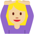 Woman Gesturing OK: Medium-Light Skin Tone on Twitter Twemoji 2.3