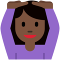 Woman Gesturing OK: Dark Skin Tone on Twitter Twemoji 2.3