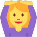 Woman Gesturing OK on Twitter Twemoji 2.3