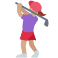 Woman Golfing: Medium Skin Tone on Twitter Twemoji 2.3