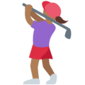 Woman Golfing: Medium-Dark Skin Tone on Twitter Twemoji 2.3