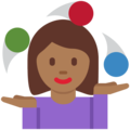 Woman Juggling: Medium-Dark Skin Tone on Twitter Twemoji 2.3