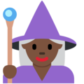 Woman Mage: Dark Skin Tone on Twitter Twemoji 2.3