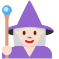 Woman Mage: Light Skin Tone on Twitter Twemoji 2.3