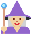 Woman Mage: Medium-Light Skin Tone on Twitter Twemoji 2.3