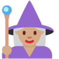 Woman Mage: Medium Skin Tone on Twitter Twemoji 2.3