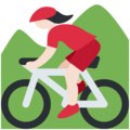 Woman Mountain Biking: Light Skin Tone on Twitter Twemoji 2.3