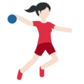 Woman Playing Handball: Light Skin Tone on Twitter Twemoji 2.3