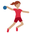 Woman Playing Handball: Medium Skin Tone on Twitter Twemoji 2.3