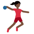 Woman Playing Handball: Dark Skin Tone on Twitter Twemoji 2.3