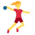 Woman Playing Handball on Twitter Twemoji 2.3