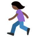 Woman Running: Dark Skin Tone on Twitter Twemoji 2.3