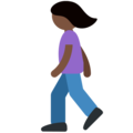 Woman Walking: Dark Skin Tone on Twitter Twemoji 2.3