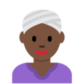 Woman Wearing Turban: Dark Skin Tone on Twitter Twemoji 2.3