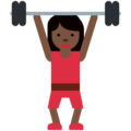 Woman Lifting Weights: Dark Skin Tone on Twitter Twemoji 2.3